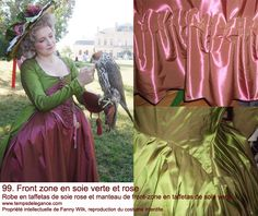 Green and pink 19th century's costume    http://tempsdelegance.com