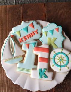 Nautical birthday cookies by Bambella Cookies