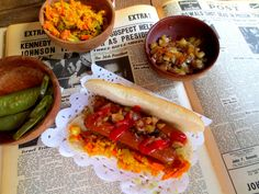 Hot-Dogs Vegan et leur Garnitures (Achards)