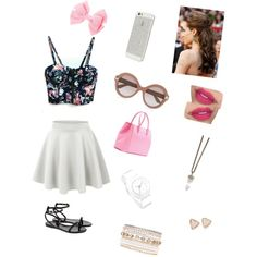 Pink and floral outfit for summer! by saylorfashions on Polyvore featuring polyvore, fashion, style, Ted Baker, Victoria Beckham, Givenchy, Nixon, Kendra Scott, Lane Bryant and Valentino