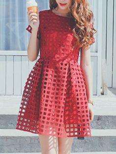 Red Cutout Dress $29