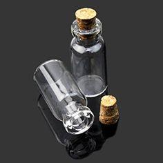 20x Mini Fioles En Verre Flacons Bouteilles Perles Bijoux Glass Bottle Rangement: Amazon.fr: Cuisine & Maison