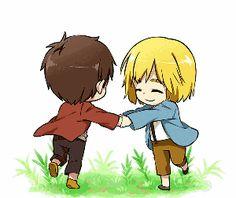 Eren and Armin. :3