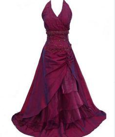 UK 22, 24. Purple full length dress halter neck fab details. Organza shawl. Click to buy. Free shipping.