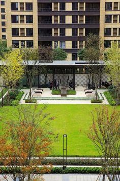 Landscape Diagram, Lawn And Landscape, Chinese Landscape, Urban Landscape, Landscape Design, Courtyard Apartments, Courtyard Landscaping, Gazebo Pergola, Planting Plan