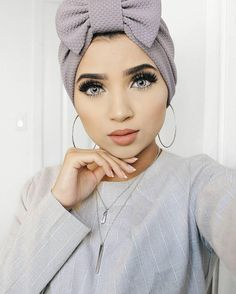 """Hijab stops women from expressing themselves"" Hijab Turban Style, Mode Turban, Turban Outfit, Turbans, Headscarves, Pashmina Hijab Tutorial, Hijab Makeup, Hijab Wedding Dresses, Hijab Bride"