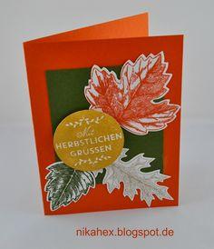 Nikas Hexerei Stampin Up! Herbstliche Karte mit Blättern