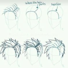 How to draw great hair from Denmark - # denmark . - Comment dessiner les superbes cheveux du Danemark – … How to draw great hair from Denmark – # denmark # Drawing Base, Guy Drawing, Manga Drawing, Drawing People, Drawing Tips, Anime Hair Drawing, Anime Mouth Drawing, Anime Drawings Sketches, Pencil Drawings