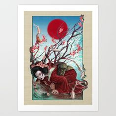 Sakura Art Print by Claudia SGI - $18.00