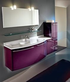 son moda banyo dolaplari mobilya ve lavabo dolabi boy dolabi aynalar mor