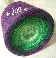 Joy: HB-Acryl 3 Fäden, 4 Farben, 4 Farbwechsel weiss neongrün grün violett