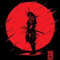 Samurai Spirit T Shirt By StevenToang Design By Humans Japanese Art Samurai, Japanese Warrior, Samurai Drawing, Samurai Artwork, Ronin Samurai, Samurai Warrior, Samurai Wallpaper, Day Of The Shirt, Ninja Art