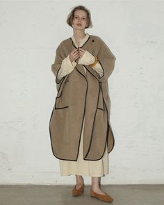LIFE's ONLINE STORE / Meltonwool Gown Coat Life Online, Down Coat, Timeless Fashion, Winter Outfits, Normcore, Gowns, My Style, Womens Fashion, How To Wear