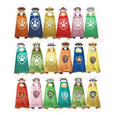 Dog Paw Cape and Mask Set Costume kids birthday party favor