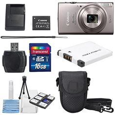 Canon PowerShot ELPH 360 HS (Silver) with 12x Optical Zoom and Built-In Wi-Fi with Deluxe Starter Kit Including 16 GB SDHC Class10 + Extra battery + Protective Camera Case http://cameras.henryhstevens.com/shop/canon-powershot-elph-360-hs-with-12x-optical-zoom-and-built-in-wi-fi-with-deluxe-accessory-bundle-and-cleaning-tools/?attribute_pa_size=16gb&attribute_pa_color=silver&attribute_pa_customerpackagetype=original https://images-na.ssl-images-amazon.com/images/I/51G6%2BzfgT