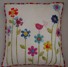 Drinking Fabric: My Quilted Cushion Cover