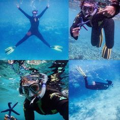 Of the blue beyond and selfies with starfish! Love my little diving adventures... The ocean makes me happy!