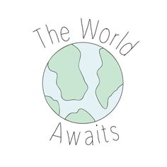 The World Awaits Sign by SweetbabyCo on Etsy