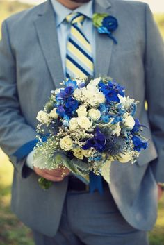 Blue bouquet #flowers #floral #white