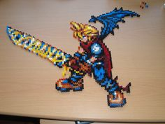 Cloud Strife Hama Sprite by rinoaff10.deviantart.com on @deviantART