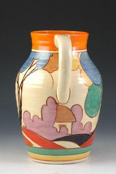 Andrew Muir | Clarice Cliff, Art Deco Pottery, Moorcroft and 20th Century Ceramics Dealer - Blue autumn isis jug