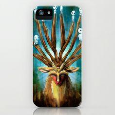 Princess Mononoke The Deer God Shishigami Tra Digital Painting. iPhone & iPod Case by Barrett Biggers - $35.00