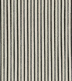 Home Decor Print Fabric-Waverly Timeless Ticking/Black