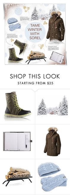 """☆Winter With Sorel !!! ☆  ""Contest Entry"""" by lana-drazic-posao ❤ liked on Polyvore featuring SOREL, Grandin Road, The North Face and sorelstyle"