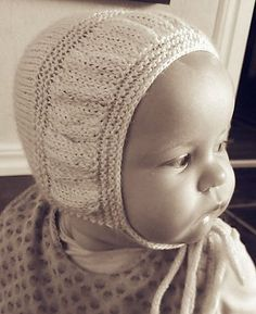 Free Knitting Pattern for I-Cord Bonnet - This bonnet features a band gathered with increases and decreases. Designed by Lotta Arnlund. Size 0-12 month or any size you want