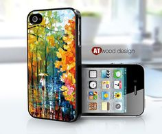 IPhone 5 case IPhone 4 case colorized painting rain by Atwoodting, $7.99
