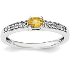 Sterling Silver Rhodium-plated Citrine and White Topaz Ring QR6386CI ($57) ❤ liked on Polyvore featuring jewelry, rings, rhodium plated jewelry, white topaz sterling silver ring, sterling silver rings, white topaz jewelry and sterling silver rhodium plated jewelry