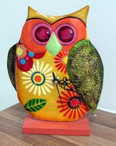 Funky owl clock - The English Owl Company
