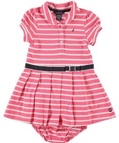 """Nautica """"Bromwich"""" Tennis Dress with Diaper Cover (Sizes 12M - 24M) - bright pink, 12 months Nautica. $16.99"""