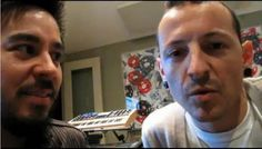 mike shinoda and chester bennington love mike's face here