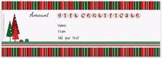 Free printable Christmas gift certificate template. Can be customized online. Instant download.