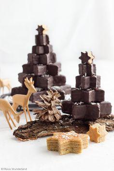 Baumkuchen-Weihnachtsbäumchen