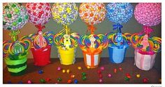 Lollipop Centerpieces | ... Lollipop Trees(custom made) Party Candy Buffet,Station,Centerpiece or