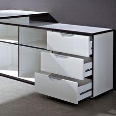 Bureau dangle design avec caisson Area escritorios Pinterest