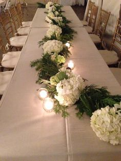 winter wedding reception centerpiece