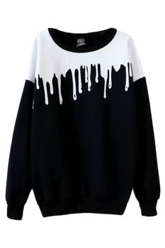 Color Block Round Neck Long Sleeve Sweatshirt - Beautifulhalo.com