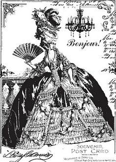 Digital Marie Antoinette image...{free printable}