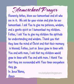 Homeschool Prayer @Laura Jayson Jayson Massingill