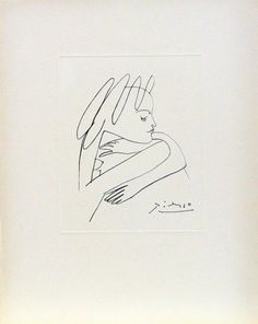 Pablo Picasso Drawings, Kunst Picasso, Picasso Sketches, Picasso Art, Drawing Sketches, Line Drawing, Painting & Drawing, Art Society, Illusion Art