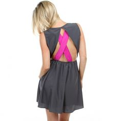 Elastic Waist X Back Dress - I must have this