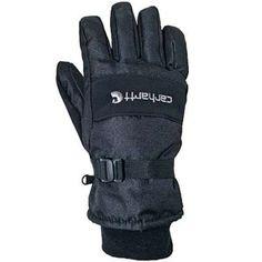 Carhartt Gloves: Men's Black Waterproof Insulated Work Gloves A511 BLK - Work Gloves - Workwear