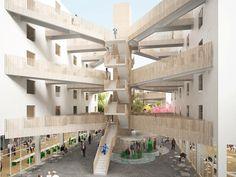 'sanya block 5' by NL architects in sanya, hainan province, china    curiosa solucion!