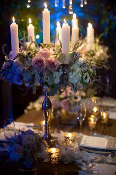 Silver candelabra, twilight wedding,  wynn austin fine weddings & events