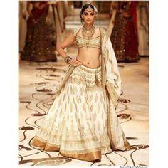 @ $96 Sonam Kapoor Off White Lehenga Choli with FREE shipping worldwide offer.