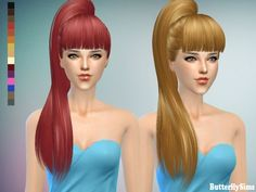 Butterflysims: B-flysims hair 138 No hat • Sims 4 Downloads