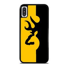 BROWNING LOGO BLACK YELLOW iPhone X Case - Best Custom Phone Cover Cool Personalized Design – Favocase